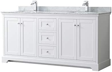Wyndham Collection Avery 72 Inch Double Bathroom Vanity