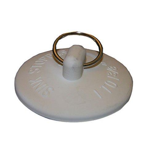 LASCO 02-3233 White Rubber Stopper for Bath Tub