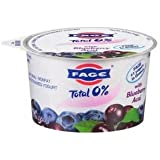 FAGE YOGURT GREEK TOTAL 0% WITH BLUEBERRY ACAI 5.3 OZ PACK OF 7