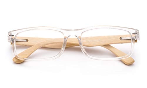 67b8eb0bc6 Newbee Fashion - Unisex Translucent Simple Design No Logo Clear Lens  Glasses Squared Fashion Frames