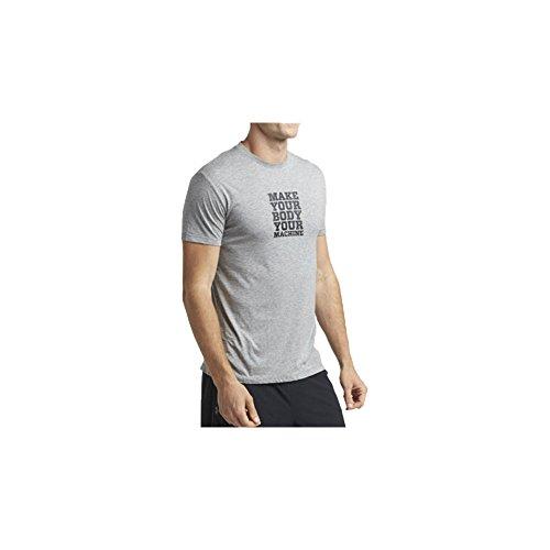TRX Training Make Your Body Your Machine Men's T-Shirt, Soft, Durable Cotton-Modal Blend, Gray (Medium)