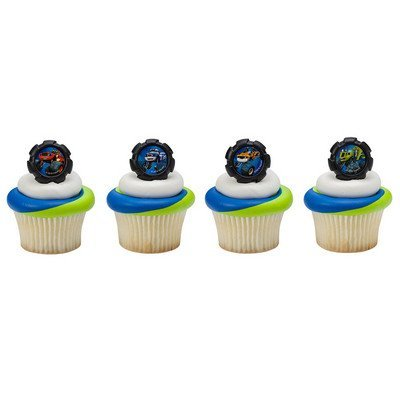 Blaze Wheels Cupcake Rings - 24