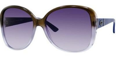 Gucci Gg 3126/S Brown/Blue Frame/Purple Gradient Lens - Purple Gucci Sunglasses