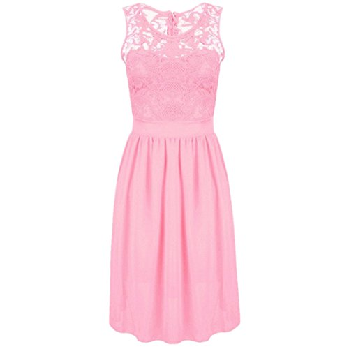 ASCHOEN - Vestido - Básico - Sin mangas - para mujer rosa XXL