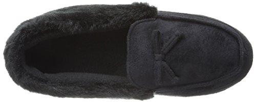 Moc Black Flat Microsuede Tundra Hazel Women's Isotoner 8Uqg00