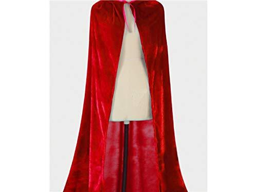 Yyanliii Divertente Mantello Con Cappuccio Da Bambino Cappuccio Lungo In Velluto Per Halloween Christmas Cosplay Party (Rosso) (Colore : Red, Dimensione : 90X35Cm)