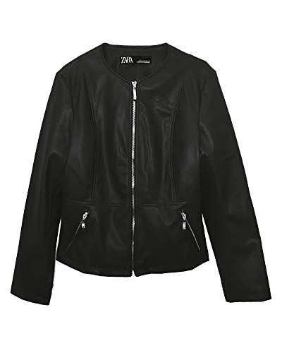 Zara Women Faux Leather Jacket 3046/042 (X-Small) Black, used for sale  Delivered anywhere in USA
