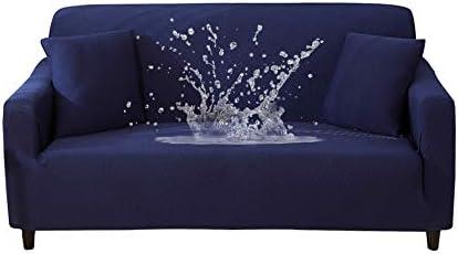 HOTNIU Funda Elástica de Sofá Funda Impermeable para sofá Antideslizante Protector Cubierta de Moda (3 Plazas, Armada)
