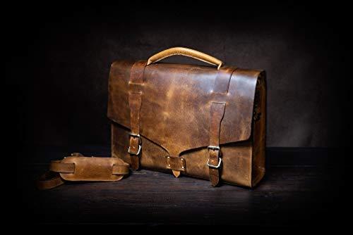 Messenger Mens Leather Bag Shoulder Vintage Briefcase Laptop Brown SSPq16ztw