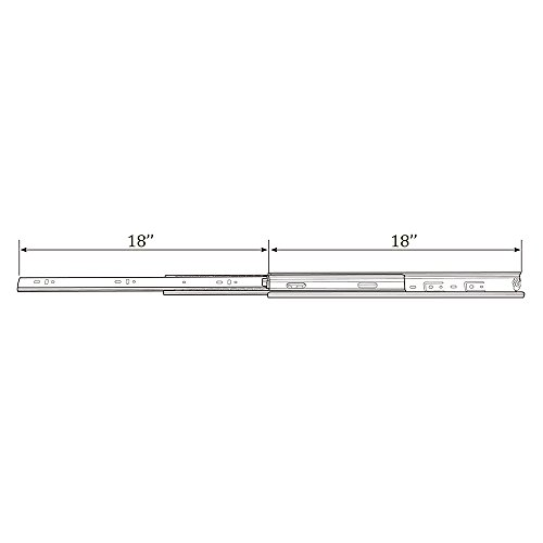 """KINGO Home 2 Pair of 18 inch Full Extension Stainless Steel Hardware Ball Bearing Side Mount Drawer Slides, Available in 10'' 12'' 14'' 16'' 18"""" 20"""" Lengths by KINGO HOME (Image #6)"""