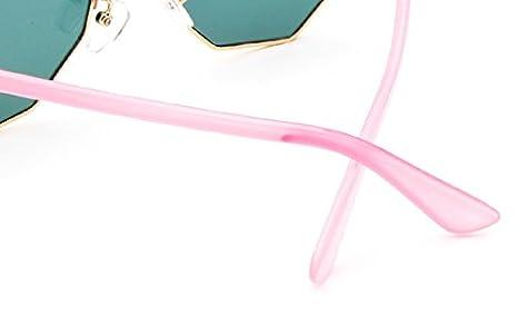 6ac1299740 Demarkt 1pcs Lunettes de Soleil Femme polygonales UV Protection/Lunettes De Rayonnement  Style Classiques Lunettes Fashion Sunglasses (Or: Amazon.fr: ...