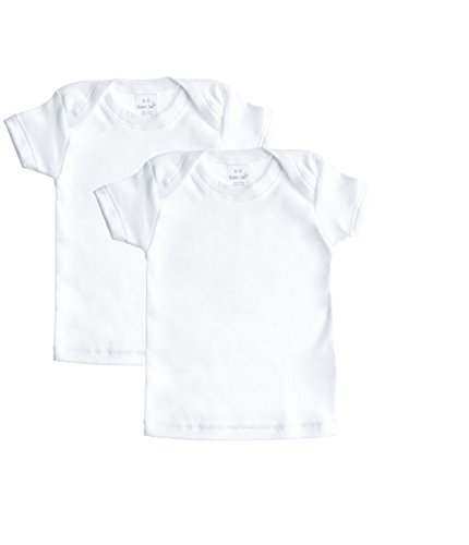 Baby & Toddler Soft Cotton T-shirt, 2 Pack White Short Sleeve Undershirt for Boys / Girls - 24-36 months