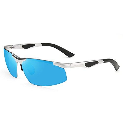solaire magnésium polarisées air C lunettes conduisant lunettes haute ZHIRONG de de en des définition aluminium voyage protection lunettes plein B soleil Hommes Couleur légères de en lunettes p0xOg