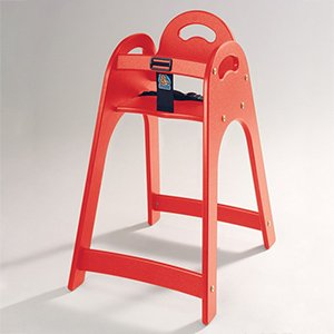 Koala Kare KB105-03 Designer Red High Chair with Rounded Top/Sides