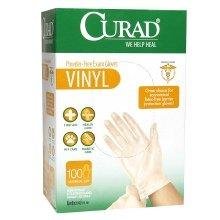 CURAD Basic Care Vinyl Disposable Exam Gloves, Medium (Pack of 300) by Curad