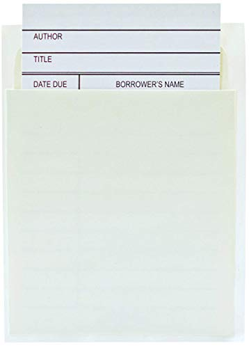Jot & Mark Library Book Card and Pocket Holder Kit | For Organizing Lending Catalogs, Libraries, and Checkouts, Set of 100 each