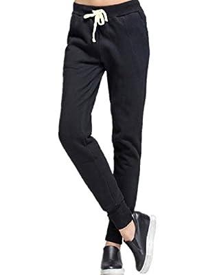 Sorrica Women's Juniors Active Casual Outdoor Slim Fit Fleece Comfortable Jogger Pants