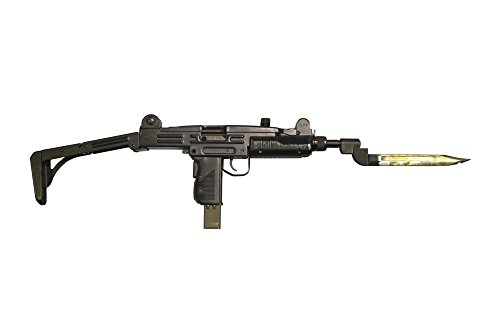 Posterazzi PSTACH100448MLARGE Uzi 9mm Submachine Gun with Attached Bayonet Poster Print, 34 x 23 -