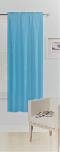 - GorgeousHomeLinen (R64) 1PC Solid Insulated Foam Backing Lined Thermal Blackout Window Curtain Panel Treatment Drape Rod Pocket Top Matte Smooth in Different Sizes (63