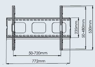 Allcam PLB105M - Soporte de Pared para Pantalla Plana (45 kg, 81,3 cm (32