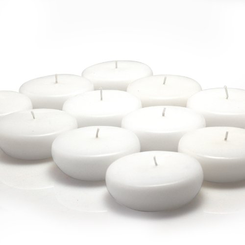 Zest Candle CFZ-023_12 288-Piece Floating Candle, 2.25'', White