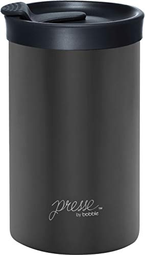 bobble Travel French Press and Portable Mug, Insulated Stainless Steel Tumbler with Micro Filter, 13 Ounces, 13 oz…