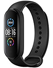Xiaomi Mi Band 5 (Global Version) Fitness Tracker Newest 1.1-inch Colour AMOLED 2.5D Display Bluetooth 5.0 Smart Bracelet Heart Rate Monitor SpO2 sensor 5 ATM Waterproof Android & iOS 125mAh Battery up to 14 Days Activity Tracker (Black)