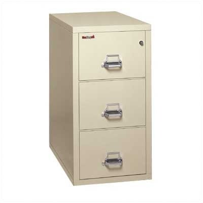 Fireproof 3-Drawer Vertical Legal File Finish: Taupe, Lock: Manipulation-Proof Comb. Lock