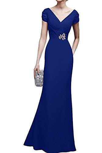 Marie Damen Chiffon Blau La Brautmutterkleider Lang Festlichkleider Abendkleider Braut Royal Brautmutterkleider 74wqaxpq