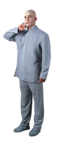 Dr Evil Costume Deluxe Adult Mens (Deluxe Dr Evil Costume)