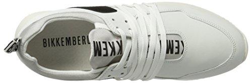 Mujer Baja Zapatilla Black Odissey Blanco White 060 880 Bikkembergs ptq4xwIx