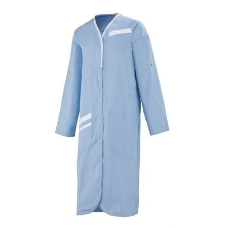 Longues blanc Blouse Médicale ciel 8mlc00pc 6 Manches Bleu Nomia Femme qBt8F