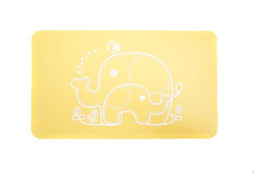 Salinka Natural Rubber Anti Slip Baby Bath Mat - PVC, Phatalates and Lead Free - Non Slip Mat for Bathtub and Shower - Durable (Yellow) ()
