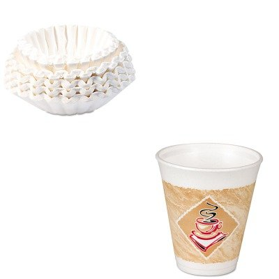KITBUN1M5002DRC8X8G - Value Kit - Dart Foam Hot/Cold Cups (DRC8X8G) and Bunn Coffee Commercial Coffee Filters (BUN1M5002) by DART
