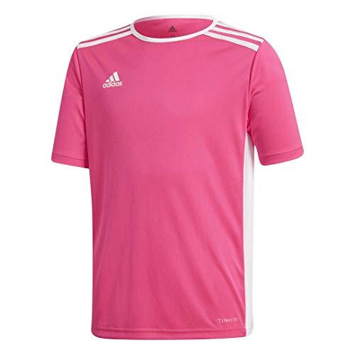 adidas Youth Soccer Entrada 18 Jersey, Shock Pink/White, Medium