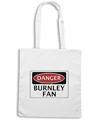Speed Shirt Borsa Shopper Bianca WC0286 DANGER BURNLEY FAN FOOTBALL