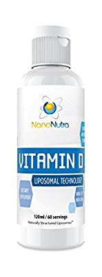 Liposomal Vitamin D Supplement with Vitamin K2 by NanoNutra - GMO/ Soy Free | Bone Support | Heart Health | Immunity Boosting | Mood Enhancing | Made in the USA | GMP Certified (120ml/ 60 servings)