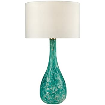 dimond lighting d2691 blown glass table lamp seafoam green