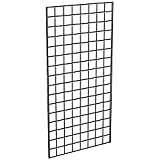 Econoco P3BLK24 Grid Panels, 2' Width x 4' Height, Black (Pack of 3)