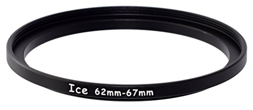 ICE 62mm to 67mm Step Up Ring Filter / Lens Adapter 62 male 67 female Stepping Adapter (B W Step Up Ring)