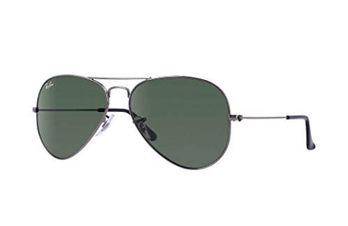 Ray Ban RB3025 Aviator Sunglasses Unisex (58 mm Gunmetal Frame Solid Black G15 Lens, 58 mm Gunmetal Frame Solid Black G15 - Sunglasses Rb3025 58mm Ban Unisex Ray