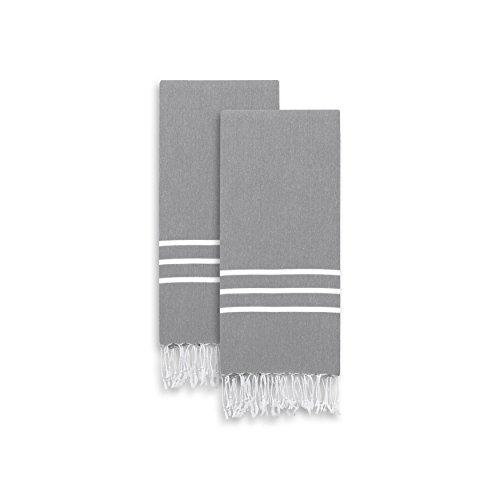 ALR90-2PHT Alara Turkish Pestemal Hand/Guest Towels (Set of 2) ()