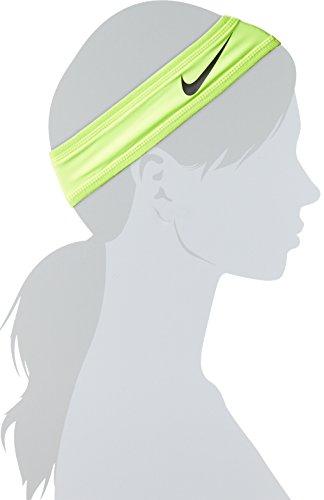Nike Speed Performance Headband (One Size Fits Most, Volt/Black) Sweatband Swoosh Logo by Nike (Image #1)