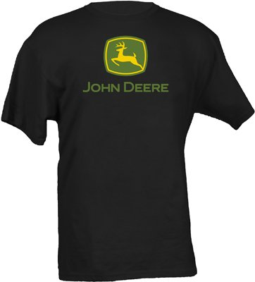 John Deere Logo T-Shirt - Men's - Black, X-Large