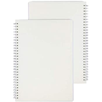 Miliko Transparent Hardcover A5 Size Dot Grid Wirebound/Spiral Notebook-2 Per Pack (Dot Grid), A5 8.27inX5.67in