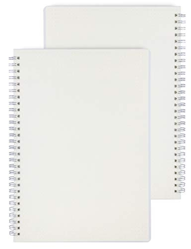 (Miliko Transparent Hardcover A5 Size Dot Grid Wirebound/Spiral Notebook-2 Per Pack (Dot Grid), A5 8.27inX5.67in)