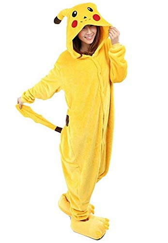 Red Dot Boutique 517 - Anime Unisex Pajama Pikachu Cosplay Costume Yellow Adult Kid S-XL (2) M (Height 5'1