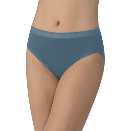 Vanity Fair Women's Comfort Where It Counts Hi Cut Panty 13164, Indigogo, 3X-Large/10