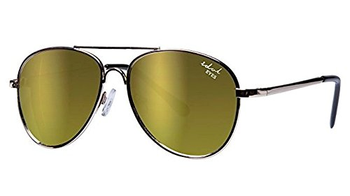 Idol occhi occhiali da sole aviatore, bambini oro con rivestimento a specchio Idol Eyes IE68038-G