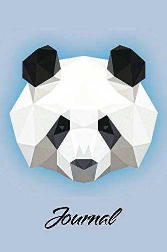 Journal: Low Poly Panda: Blank Lined Notebook, Journal or -